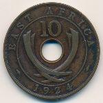 Восточная Африка, 10 центов (1924 г.)
