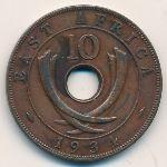 Восточная Африка, 10 центов (1934 г.)