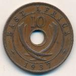 Восточная Африка, 10 центов (1937 г.)