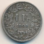 Швейцария, 1 франк (1909 г.)