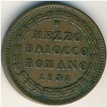 Papal States, 1/2 baiocco, 1831–1834