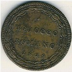 Papal States, 1 baiocco, 1829