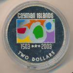 Каймановы острова, 2 доллара (2003 г.)