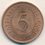 Маврикий, 5 центов (1969 г.)