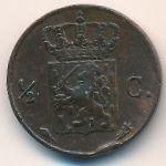 Нидерландская Индия, 1/2 цента (1827 г.)