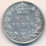 Великобритания, 6 пенсов (1906 г.)