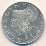 Австрия, 10 шиллингов (1957 г.)