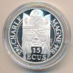 Франция, 100 франков - 15 экю (1990 г.)