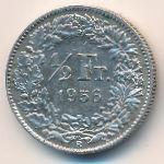 Швейцария, 1/2 франка (1956 г.)