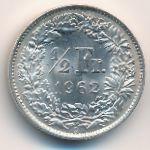 Швейцария, 1/2 франка (1962 г.)