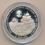 Каймановы острова, 5 долларов (1988 г.)