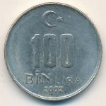 Турция, 100000 лир (2002 г.)