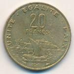 Джибути, 20 франков (1982 г.)