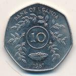 Уганда, 10 шиллингов (1987 г.)