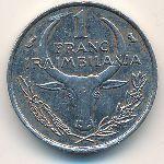 Мадагаскар, 1 франк (1966–1986 г.)