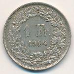 Швейцария, 1 франк (1944–1956 г.)