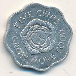 Сейшелы, 5 центов (1972 г.)