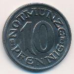 Ахен., 10 пфеннигов (1920 г.)