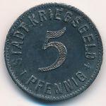 Кирхгайм-унтер-Тек., 5 пфеннигов (1917 г.)