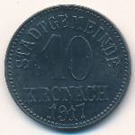 Бавария., 10 пфеннигов (1917 г.)