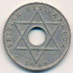 British West Africa, 1/2 penny, 1949–1951