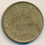 Британская Западная Африка, 2 шиллинга (1939 г.)