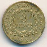 Британская Западная Африка, 3 пенса (1926 г.)