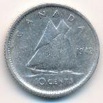 Канада, 10 центов (1942 г.)