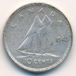 Канада, 10 центов (1945 г.)