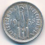 Южная Родезия, 3 пенса (1935 г.)