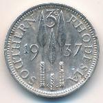Южная Родезия, 3 пенса (1937 г.)