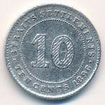 Стрейтс-Сетлментс, 10 центов (1896 г.)