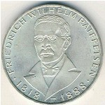 West Germany, 5 mark, 1968