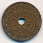 Родезия и Ньясаленд, 1/2 пенни (1955–1964 г.)