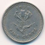 Родезия, 5 центов (1975–1977 г.)