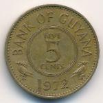 Гайана, 5 центов (1972 г.)
