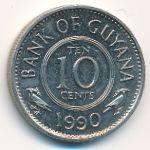Гайана, 10 центов (1990–1991 г.)