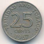Тринидад и Тобаго, 25 центов (1967 г.)