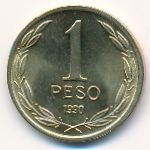 Чили, 1 песо (1990 г.)
