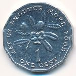 Ямайка, 1 цент (1991 г.)