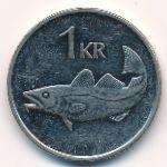 Исландия, 1 крона (1989–2011 г.)
