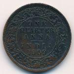 Британская Индия, 1/4 анны (1909 г.)