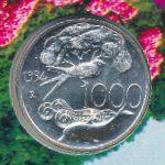 Италия, 1000 лир (1994 г.)