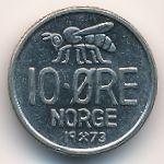 Норвегия, 10 эре (1973 г.)
