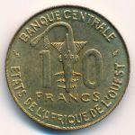 Западная Африка, 10 франков (1989 г.)