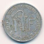 Западная Африка, 1 франк (1967 г.)