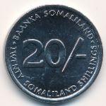 Сомалиленд, 20 шиллингов (2002 г.)
