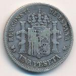 Испания, 1 песета (1882 г.)