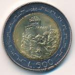 Сан-Марино, 500 лир (1988 г.)