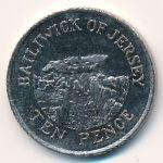 Джерси, 10 пенсов (2010 г.)